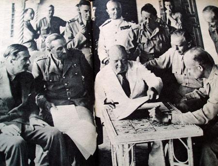 Winston Churchill smoking a cigar