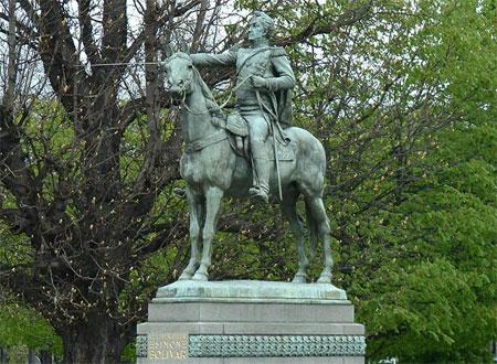 Statue of Simon Bolivar in Paris