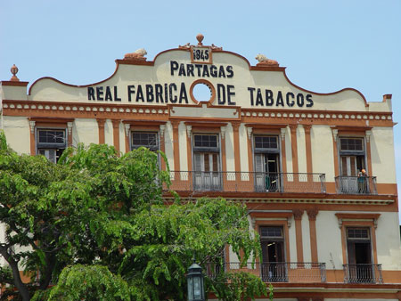 Old Partagas factory in Habana