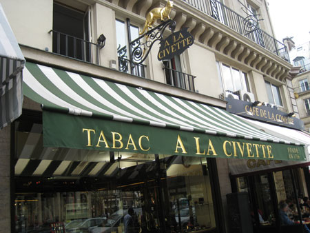 Buying cigars in Paris: A la Civette