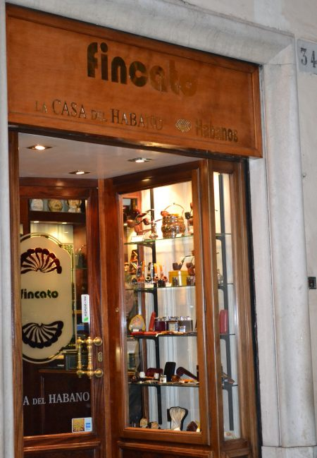 Buying cigars in Rome