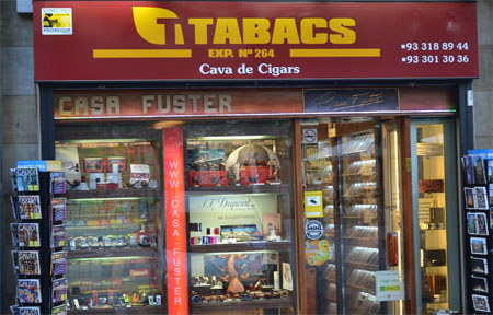 Buying cigars in Barcelona
