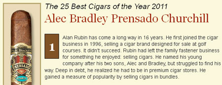 Cigar Aficionado releases their Top 25 cigars of 2011