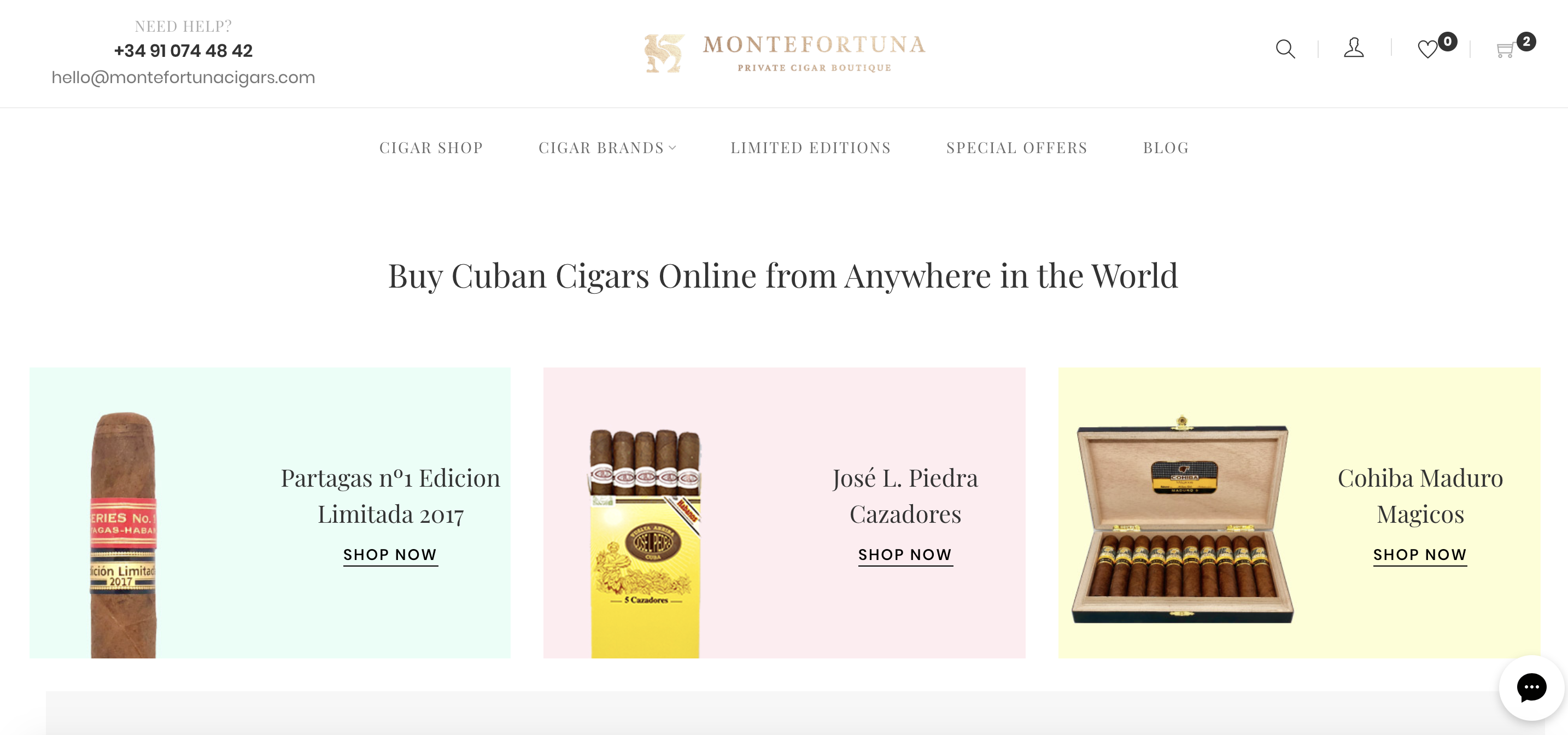 Montefortuna cigars