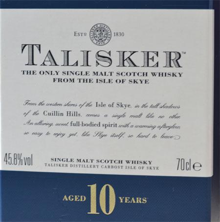 Talisker 10 Year Old